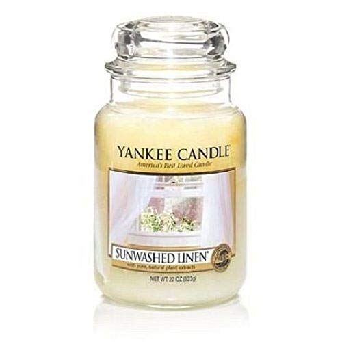 Sunwashed Linen 22 OZ - Large Jar Yankee Candle ()