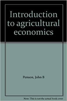 Book Introduction to agricultural economics