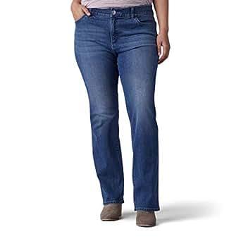 Lee Women's Plus-Size Flex Motion Regular Fit Bootcut Jean, Rayne, 22W Long
