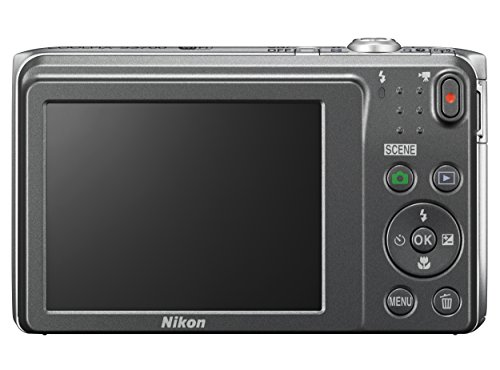 Nikon COOLPIX S3700 Digital Camera with 8x Optical Zoom and Built-In Wi-Fi (Silver)