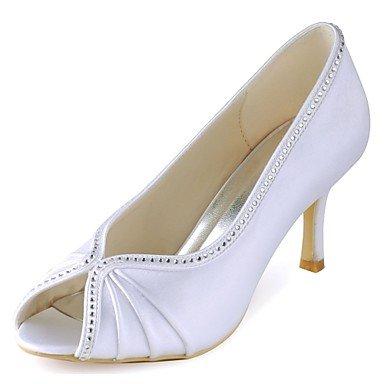 RTRY Las Mujeres'S Wedding Shoes Bomba Básica De Satén Stretch Primavera Verano Boda &Amp; Noche De Cristal Blanco Stiletto Talón 3A-3 3/4En Blanco Us5.5 / Ue36 / Uk3.5 / Cn35 US6 / EU36 / UK4 / CN36