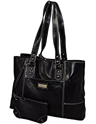 Franklin Covey Womens Business Laptop Tote Bag - Black