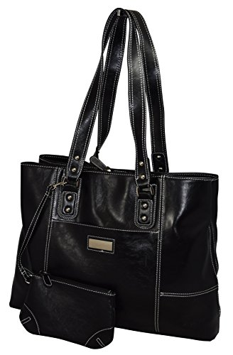 Franklin Covey Women's Business Laptop Tote Bag - Black (Franklin Covey Black Pocket)