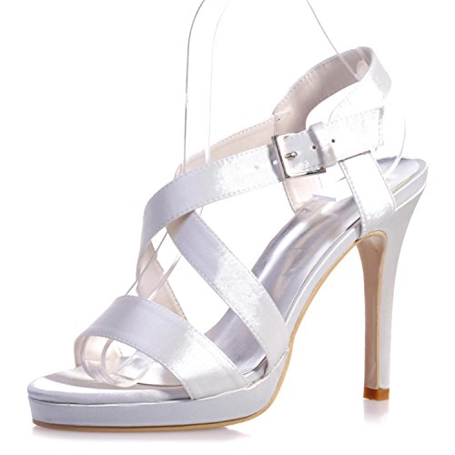 yc Peep Nocturna Confort White Tacones L 22 Y Casual Pu Altos Variedad Colores Cómodo 5915 Fiesta Toe De 0xdqw7wBv