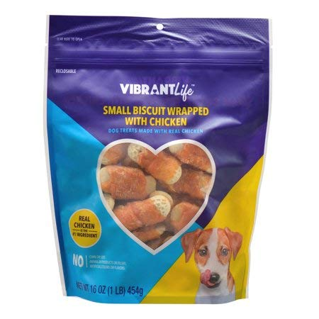 Vibrant Life Biscuit Wrapped with Chicken Dog Treats, NET WT 16 oz. ()