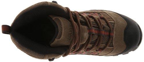 Wolverine Mens Black Ledge FX Mid-Cut Hiker Shoe Brindle/Red v3Ox5