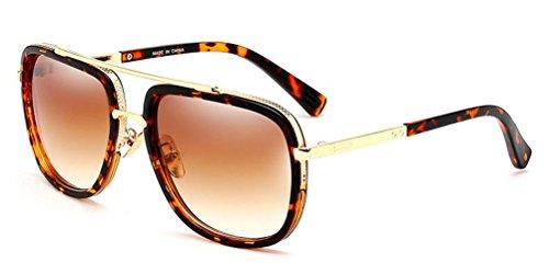 JYG Unisex Vintage Polarized Big Frame Gradient Lenses Sunglasses (70s Men Clothes)