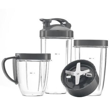 Deluxe Upgrade Nutribullet Replacement 3 cups + 3 Tops + Extractor by SRuge