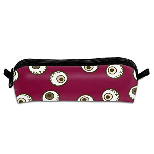 Cool Halloween Eyeball Canvas Cosmetic Pen Pencil Stationery Pouch Bag -