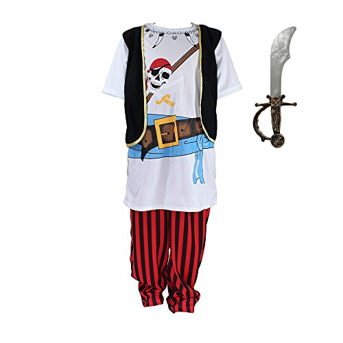 Kids Pirate Role Play Halloween Costume Dress-Up (Wench Halloween Outfit)