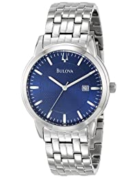 Bulova Men's 96B197 Silver Stainless-Steel Analog Quartz Watch