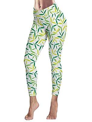 Women's Capris Printed Custom Leggings Tropical Plant Theme High Waist Yoga Running Workout Pants