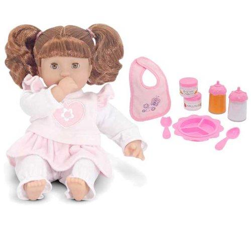 Melissa and Doug Brianna 12″ Doll Plus Time to Eat Feeding Set, Baby & Kids Zone