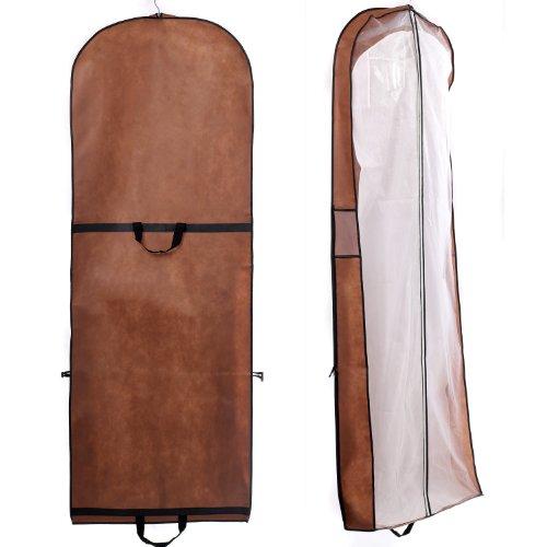 HIMRY® Transpirable Funda de ropa, 180 cm x 65 cm Bolsa de Ropa Protector para vestidos de novia o de fiesta, trajes, abrigos. - cierre de cremallera ...