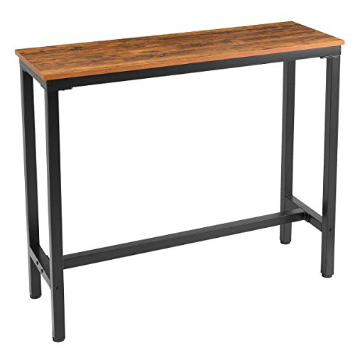 """Mr IRONSTONE Bar Table 47 """" Pub Dining Height Table Bistro Table with Textured Top (Yellow Cheery)"""