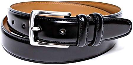 コードバン調牛革 ベルト メンズ ブラック ビジネス フォーマル サイズ調整可能 50有余年の歴史とクラフトマンシップが創り出す確かな品質 MADE IN JAPAN