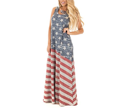 Chuanqi-Womens-Sleeveless-4-th-of-July-USA-Flag-Tank-Dress-Long-Maxi-Dress-Ankle-Length