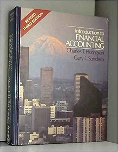 Introduction to financial accounting (Prentice-Hall series in ...