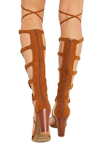 Bambu Flätad Strappy Klack Sandal Tan