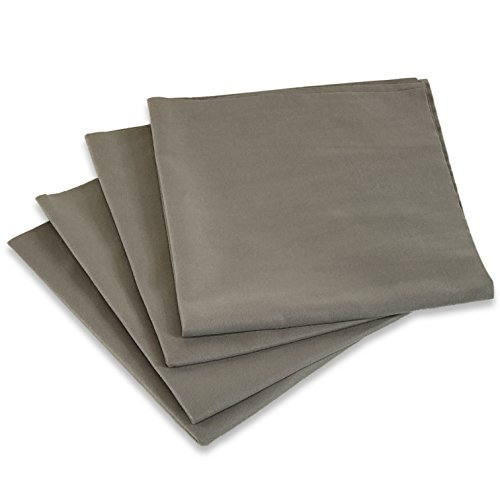 Edge Finishing (CarKleen Microfiber Finishing Towel 4 Pack - Sonic Cut Edges - Streak Free Cleaning - Glass - Chrome - Fine Finishes - Interior & Exterior - Suede Feel Detailing Towel - 16