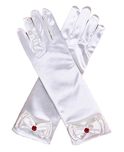 Kuzhi Girls Dress Gloves Stretch Full Finger for Pageant Wedding Party