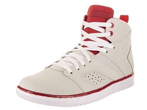 Jordan Nike Men's Flight Legend Light Bone/White/Gym Red/White Basketball Shoe 12 Men US by Jordan