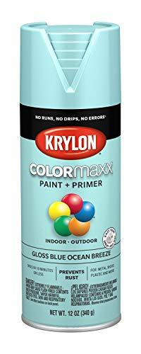 Krylon K05506007 COLORmaxx Spray Paint, Aerosol, Blue Ocean Breeze