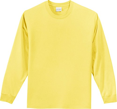 Yellow Port (Port & Company - Youth Long Sleeve Essential T-Shirt XS Yellow)