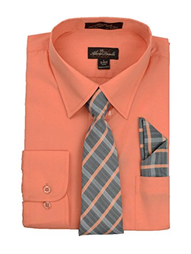 Alberto Danelli Men's Long Sleeve Dress Shirt with Matching...