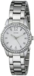 GUESS Women's U0445L1 Silver-Tone Bracelet Watch