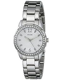 GUESS Women's U0445L1 Feminine Silver-Tone Watch