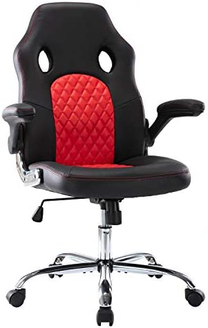 Cheap SMUGDESK Ergonomic Racing Style Bonded Leather Swivel Office Desk Video Computer Gaming Chair High Back computer gaming chair for sale