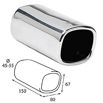 ER05 - Acero inoxidable de tubo de escape del tubo de escape de para atornillar Embellecedor de tubos de escape universales: Amazon.es: Coche y moto