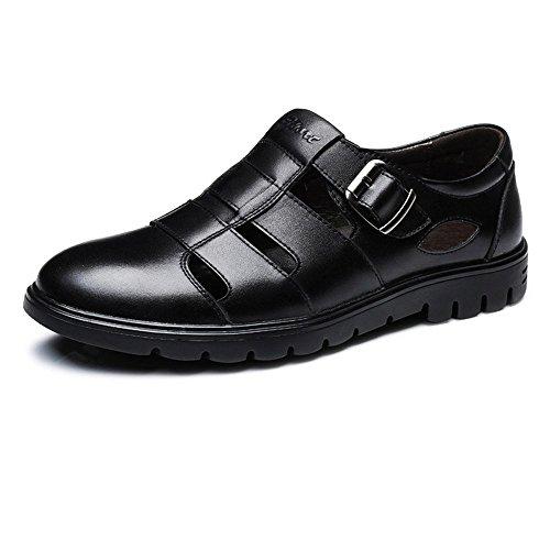 vera di parte pelle taglio 2018 uomo suola morbida scarpe on Nero UK slip ballerine nuovo nbsp;uomo bovina shoes superiore pelle con mocassini Shufang in 7 mocassino Nero 5 da classico traspirante nvwYqO6Pxn