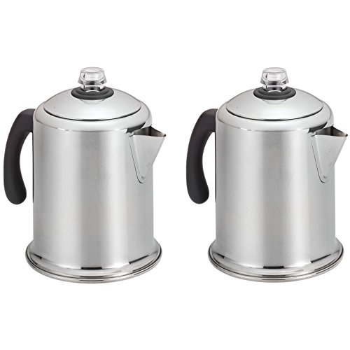 Farberware 8-Cup Stainless Steel Percolator Model 50124 - 2 Pack by Farberware