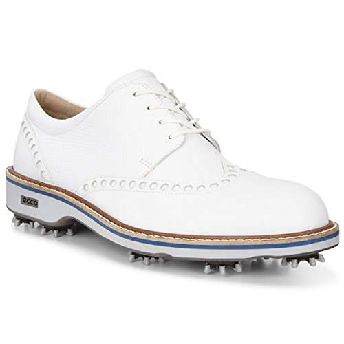 ECCO Men's Luxe Golf Shoe, White/White,  - Classic Hydromax Golf Shoes Shopping Results