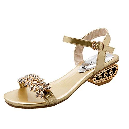 Sandalias De Tacón Alto Para Mujer, Sandalias De Cuña Coerni Fashion (us: 8, Black) Gold