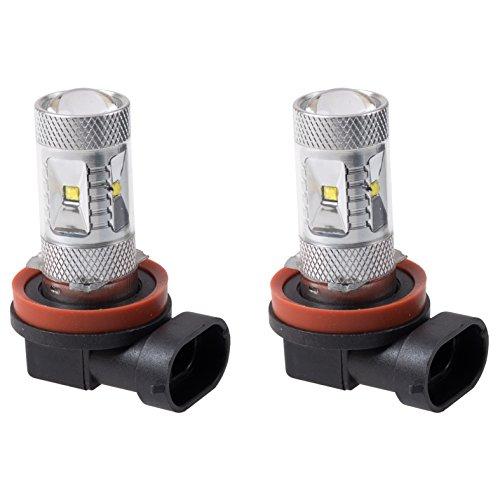 Putco 250009W Optic 360 H9 High Power LED Fog Lamp Bulb,Pack of 2