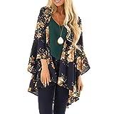 Fashion Womens Printing Long Sleeve Cardigan for Women Fashion T-Shirt Knitted Print Tops Coat (Dark Blue,S)