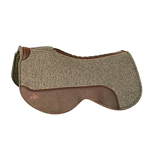 Saddle Reg Oil - Circle Y Close Contact Wool Felt Saddle Pad 3428 28inch, Grey, Reg Oil wear Leathers
