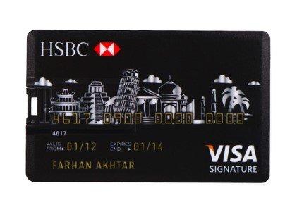 Llave USB, tamaño de Tarjeta de Crédito (16GB), USB 2.0 – Tarjeta USB Memory Stick – Flash Drive HSBC