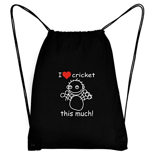Teeburon I love Cricket this much! Sport Bag by Teeburon
