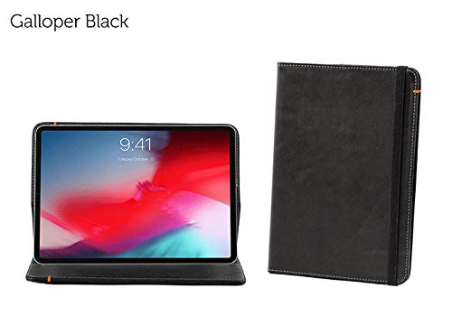 Oxford Leather Case Compatible with iPad Pro 11 (Black)