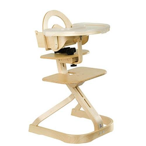 Svan Wooden High Chair with Removable Tray, Natural