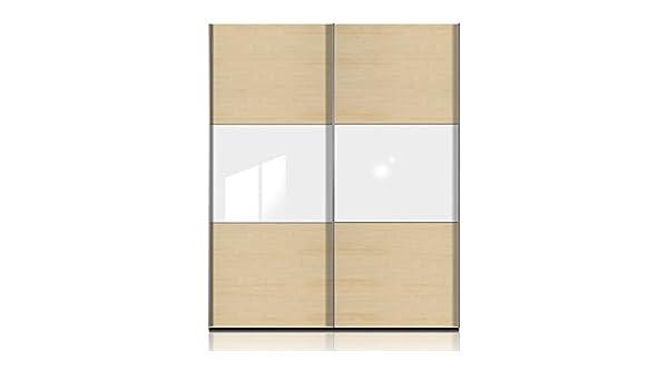Puerta corredera Trio color (capa exterior): madera de roble, color (front): roble, Anchura: 302 cm (2-puertas): Amazon.es: Hogar