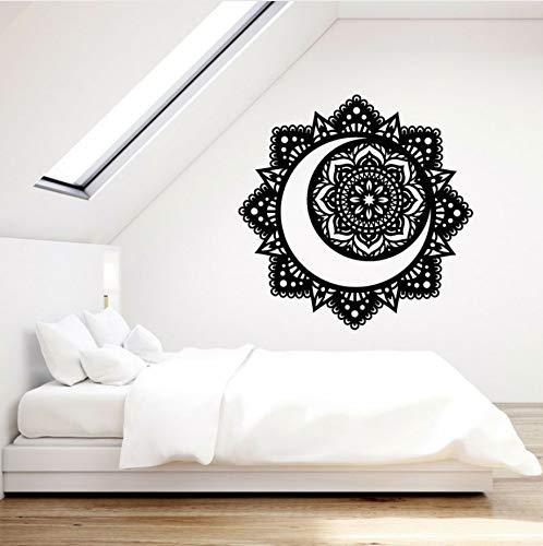 Vinilo Tatuajes de pared Mandala Budista Flor de Loto Luna ...