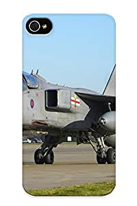 Awesome Igumhr-2125-qxpnkng Jeanbrinson Defender Tpu Hard Case Cover For Iphone 4/4s- Aircraft Army Aack Sepecat Jaguar Fighter Jet Military French Uk