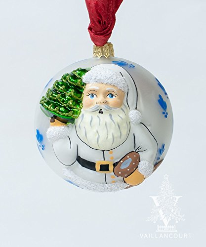 Vaillancourt Jingle Ball Fleur-de-lis Santa for sale  Delivered anywhere in USA