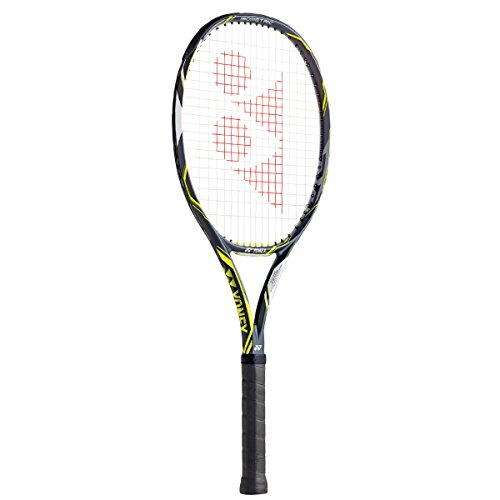 Cheap Yonex EZone DR 100 Lite (285g) Tennis Racquet (4-1/4), Dark Gun/Lime