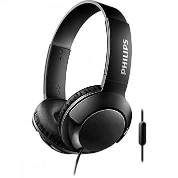 Philips Bass+ SHL3075BK - Auriculares con micrófono (Cable, Bajos potentes, Plegables, Ligeros y Elegantes) Negro: Amazon.es: Electrónica